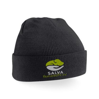 SALVA Strickmütze bestickt - schwarz